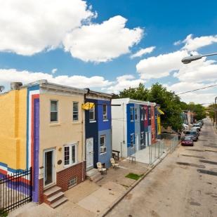 Community mural, 3800 block of Melon Street, Philadelphia. Photo by Steve Weinik.