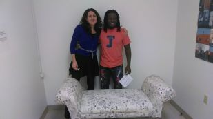 Dr. Carolyn Cannuscio and Ernel Martinez, Photo by Latasha Billington