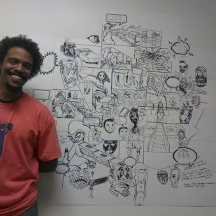 Collaborative Graphic Novel, Jared Wood, Photo by Latasha Billington