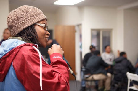 Latasha Billington, spoken word. Photo by Steve Weinik