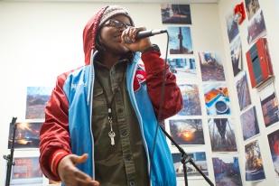 Tash, spoken word. Photo by Steve Weinik